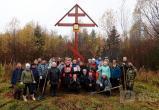 Появилось видео установки поклонного креста на станции Шиес (ВИДЕО)
